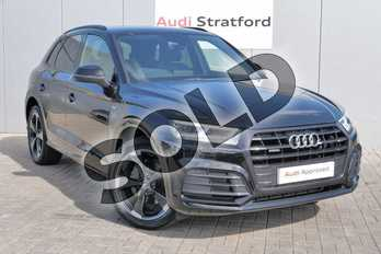 Audi Q5 Diesel 40 TDI Quattro Black Edition 5dr S Tronic in Myth Black Metallic at Stratford Audi