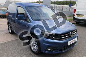 Volkswagen Caddy C20 Diesel 2.0 TDI BlueMotion Tech 150PS Highline Van in Acapulco Blue at Listers Volkswagen Van Centre Worcestershire