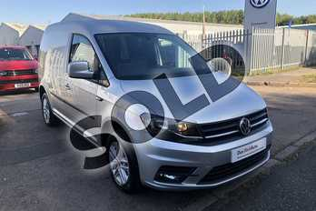 Volkswagen Caddy C20 Diesel 2.0 TDI BlueMotion Tech 102PS Highline Nav Van in Reflex silver at Listers Volkswagen Van Centre Worcestershire