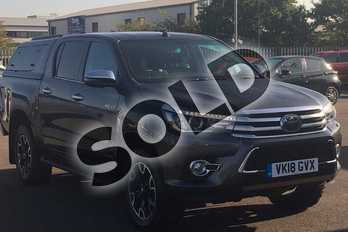 Toyota Hilux Diesel Invincible X D/Cab Pick Up 2.4 D-4D Auto in Grey at Listers Toyota Lincoln