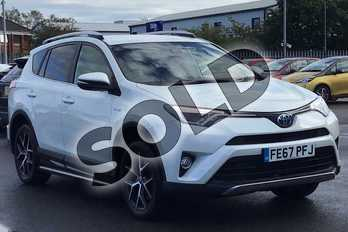 Toyota RAV4 2.5 VVT-i Hybrid Icon TSS 5dr CVT in White at Listers Toyota Lincoln