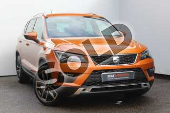 SEAT Ateca 1.4 EcoTSI Xcellence 5dr DSG in Orange at Listers SEAT Worcester