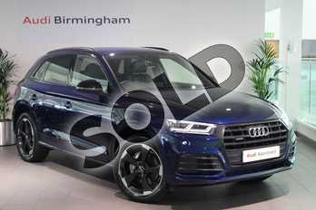 Audi Q5 Diesel 40 TDI Quattro Black Edition 5dr S Tronic in Navarra Blue Metallic at Birmingham Audi