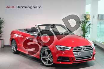 Audi A3 S3 TFSI 300 Quattro 2dr S Tronic in Tango Red Metallic at Birmingham Audi