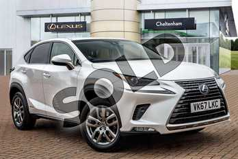 Lexus NX 300h 2.5 Luxury 5dr CVT (Premium Nav) in Sonic White at Lexus Cheltenham