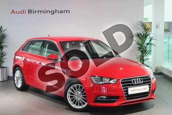 Audi A3 1.4 TFSI 150 Sport 5dr in Brilliant Red at Birmingham Audi