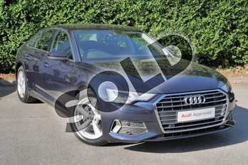 Audi A6 Diesel 40 TDI Sport 4dr S Tronic in Firmament Blue Metallic at Worcester Audi
