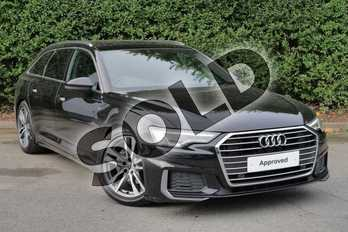 Audi A6 40 TDI S Line 5dr S Tronic in Myth Black Metallic at Worcester Audi