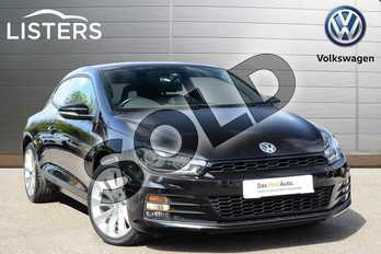 Volkswagen Scirocco 2.0 TSI BlueMotion Tech GT 3dr DSG in Deep Black at Listers Volkswagen Leamington Spa