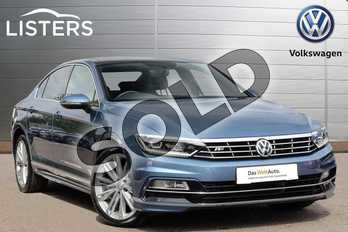 Volkswagen Passat 1.4 TSI 150 R Line 4dr (Panoramic Roof) in Havard Blue at Listers Volkswagen Leamington Spa