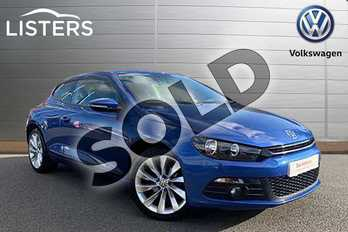 Volkswagen Scirocco Diesel 2.0 TDI BlueMotion Tech GT 3dr in Rising Blue at Listers Volkswagen Stratford-upon-Avon