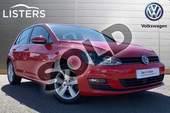 Volkswagen Golf Diesel 1.6 TDI 105 Match 5dr in Red at Listers Volkswagen Stratford-upon-Avon