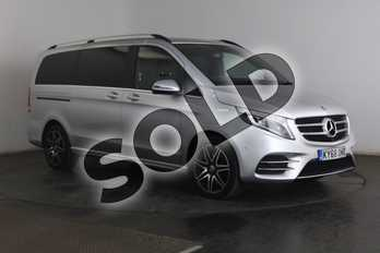 Mercedes-Benz V Class Diesel V250 d AMG Line 5dr Auto (Long) in brilliant silver metallic at Mercedes-Benz of Grimsby