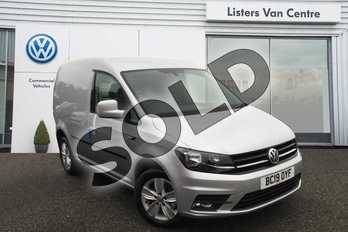 Volkswagen Caddy C20 Diesel 2.0 TDI BlueMotion Tech 150PS Highline Van in Reflex Silver at Listers Volkswagen Van Centre Coventry