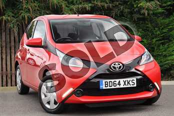 Toyota AYGO 1.0 VVT-i X-Play 5dr in Red Pop at Listers Toyota Coventry