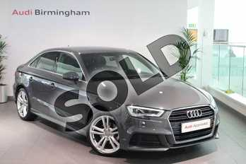 Audi A3 1.5 TFSI S Line 4dr in Nano Grey Metallic at Birmingham Audi