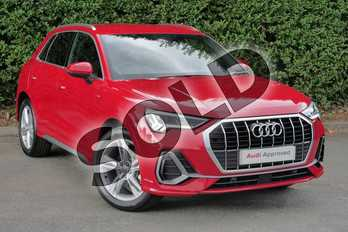 Audi Q3 Diesel 35 TDI S Line 5dr S Tronic in Tango Red Metallic at Worcester Audi