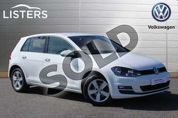 Volkswagen Golf 1.4 TSI 125 Match Edition 5dr in Pure White at Listers Volkswagen Nuneaton