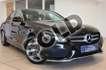 Mercedes-Benz C Class Diesel C220d AMG Line 4dr Auto in Metallic - Obsidian black at Listers U Northampton