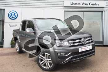 Volkswagen Amarok D/Cab Pick Up Highline 3.0 V6 TDI 258 BMT 4M Auto in Indium Grey at Listers Volkswagen Van Centre Coventry