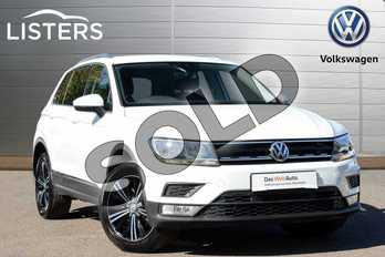 Volkswagen Tiguan Diesel 2.0 TDI 150 4Motion SE Nav 5dr DSG in Pure white at Listers Volkswagen Leamington Spa