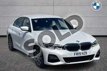 BMW 3 Series Diesel 320d M Sport 4dr Step Auto in Mineral White at Listers Boston (BMW)