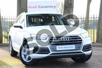 Audi Q5 40 TDI Quattro Sport 5dr S Tronic in Ibis White at Coventry Audi
