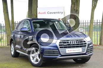 Audi Q5 Diesel 40 TDI Quattro Sport 5dr S Tronic in Navarra Blue Metallic at Coventry Audi
