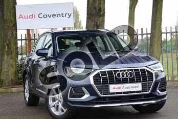 Audi Q3 Diesel 35 TDI Quattro Sport 5dr in Cosmos Blue Metallic at Coventry Audi