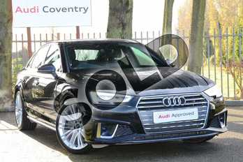 Audi A4 40 TDI S Line 4dr S Tronic in Myth Black Metallic at Coventry Audi