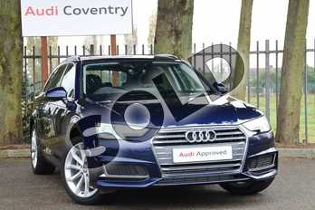 Audi A4 35 TFSI Sport 5dr in Navarra Blue Metallic at Coventry Audi