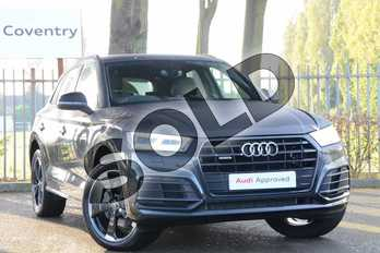 Audi Q5 Diesel 40 TDI Quattro Black Edition 5dr S Tronic in Manhattan Grey Metallic at Coventry Audi