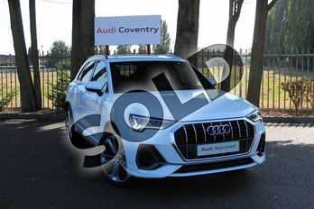 Audi Q3 35 TFSI S Line 5dr S Tronic in Ibis White at Coventry Audi