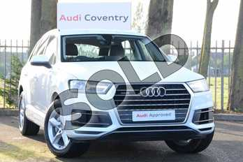Audi Q7 45 TDI Quattro Sport 5dr Tiptronic in Carrara White at Coventry Audi