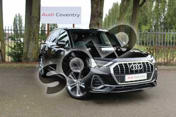 Audi Q3 35 TFSI S Line 5dr S Tronic in Myth Black Metallic at Coventry Audi