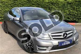 Mercedes-Benz C Class C350 BlueEFFICIENCY AMG Sport Plus 2dr Auto in Metallic - Palladium silver at Listers U Boston