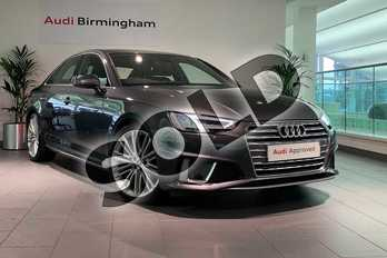 Audi A4 35 TDI S Line 4dr S Tronic in Daytona Grey Pearlescent at Birmingham Audi