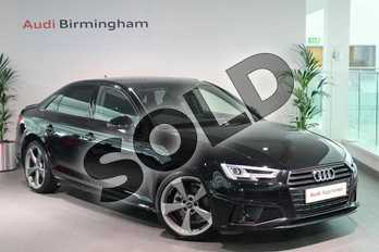 Audi A4 40 TFSI Black Edition 4dr S Tronic in Brilliant Black at Birmingham Audi