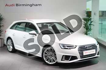 Audi A4 40 TDI S Line 5dr S Tronic in Ibis White at Birmingham Audi