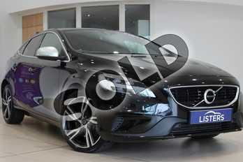 Volvo V40 T2 (122) R DESIGN Pro 5dr Geartronic in Metallic - Onyx black at Listers U Northampton