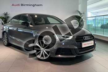 Audi A3 Special Editions 1.5 TFSI Black Edition 4dr in Nano Grey Metallic at Birmingham Audi