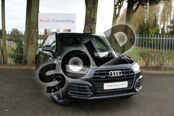 Audi Q5 Diesel 40 TDI Quattro Black Edition 5dr S Tronic in Navarra Blue Metallic at Coventry Audi