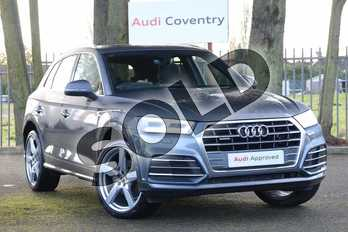 Audi Q5 Diesel 40 TDI Quattro S Line 5dr S Tronic in Monsoon Grey Metallic at Coventry Audi