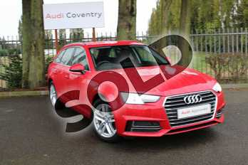 Audi A4 Diesel 35 TDI SE 5dr S Tronic in Tango Red Metallic at Coventry Audi