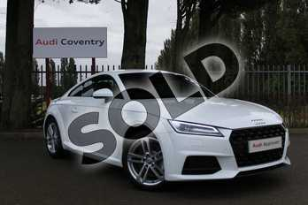 Audi TT 45 TFSI Sport 2dr in Ibis White at Coventry Audi