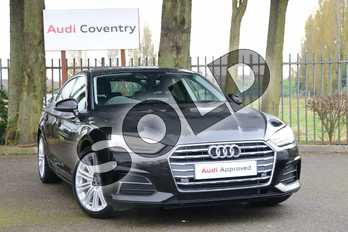 Audi A5 Diesel 40 TDI Sport 5dr S Tronic in Myth Black Metallic at Coventry Audi