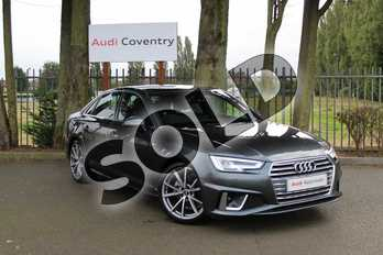 Audi A4 Diesel 35 TDI S Line 4dr S Tronic in Daytona Grey Pearlescent at Coventry Audi