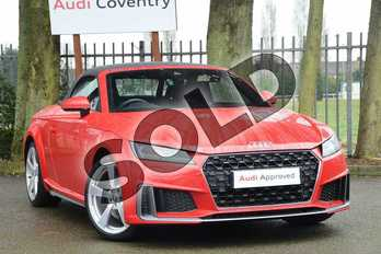 Audi TT 45 TFSI S Line 2dr S Tronic in Tango Red Metallic at Coventry Audi