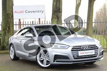 Audi A5 40 TDI S Line 2dr S Tronic in Floret Silver Metallic at Coventry Audi