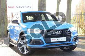 Audi Q5 40 TDI Quattro Vorsprung 5dr S Tronic in Turbo Blue at Coventry Audi